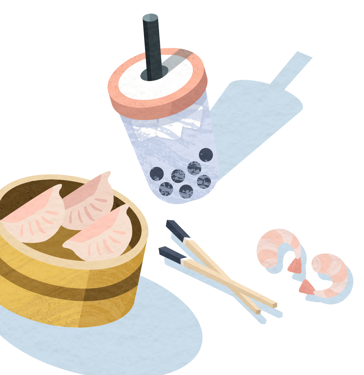 Illustration of various foods